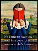 it\'s better to have your nose in a book